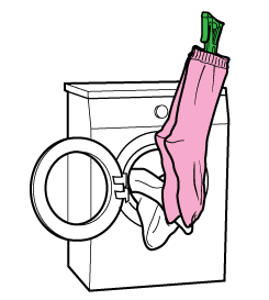 How to wash socks with pegs